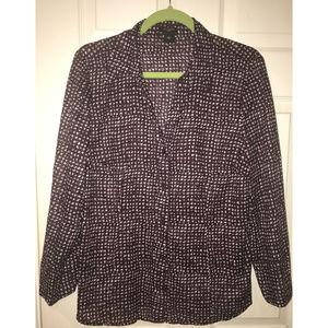 Ann Taylor Plum Color Shirt, Size 16
